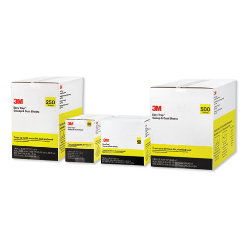 """3M Easy Trap Duster Sweep And Dust Sheets 5/"""" x 6/"""" x 30/' 60 Sheets"""