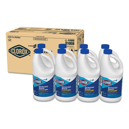 Concentrated Germicidal Bleach, Regular, 64oz Bottle, 8/Carton