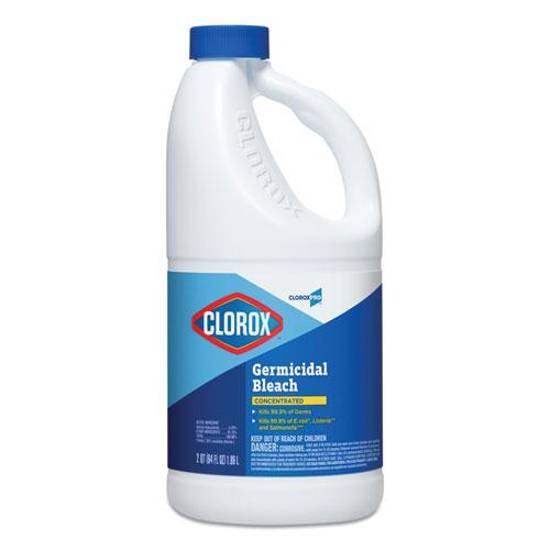 Clorox® Concentrated Germicidal Bleach, Regular, 121 oz Bottle, 3/Carton