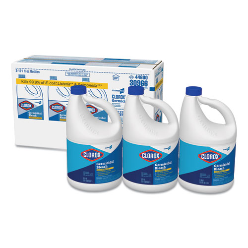 Clorox® Concentrated Germicidal Bleach, Regular, 121 oz Bottle, 3/Carton
