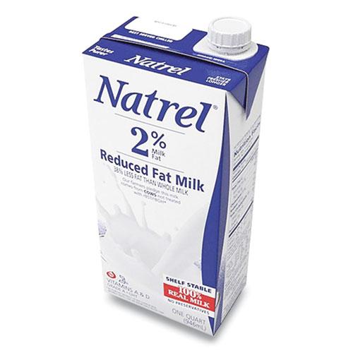 Milk, 2 Reduced Fat, 32 oz Resealable Tetra Bottle, 12/Carton