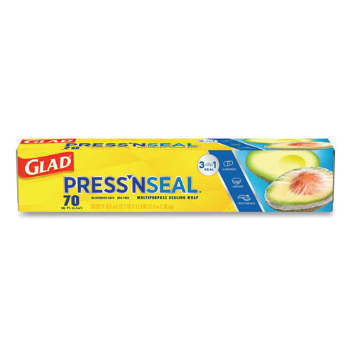Pressn Seal Food Plastic Wrap, 70 Square Foot Roll, 12/Carton