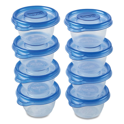 Mini Round Food Storage Containers, 4 oz,  8/Pack