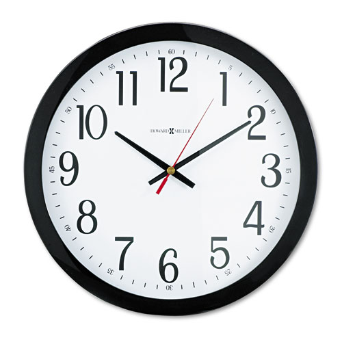 Gallery Wall Clock, 16 Overall Diameter, Black Case, 1 AA (sold separately)