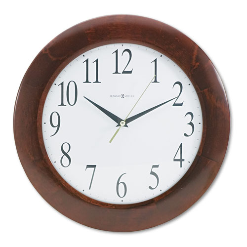 Corporate Wall Clock, 12.75 Overall Diameter, Cherry Case, 1 AA (sold separately)