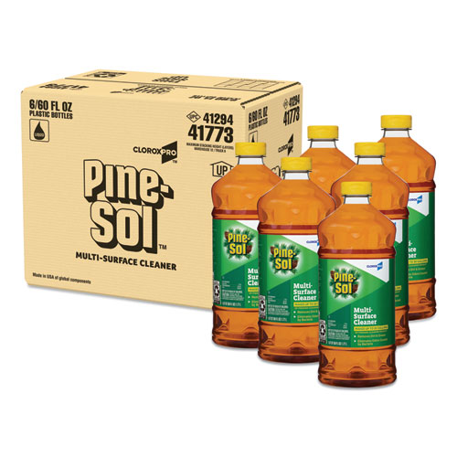 Pine-Sol® Multi-Surface Cleaner Disinfectant, Pine, 60oz Bottle, 6 Bottles/Carton
