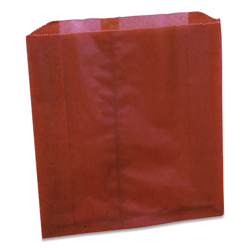 Waxed Sanitary Napkin Disposal Liners, 9.25 x 0.3 x 10.45, Brown, 250/Carton