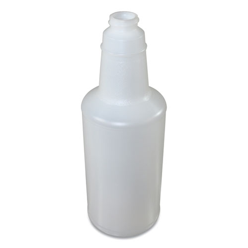 Plastic Bottles with Graduations, 32 oz, Clear, 12/Carton