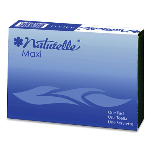 Naturelle Maxi Pads, 4 For Vending Machines, 250 Individually Wrapped/Carton