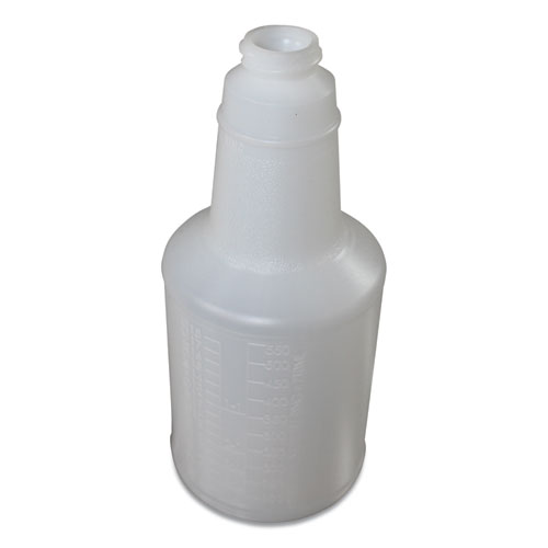 Plastic Bottles with Graduations, 24 oz, Clear, 24/Carton