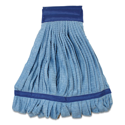 Microfiber Tube Wet Mops, 15 x 2, Blue, 12/Carton