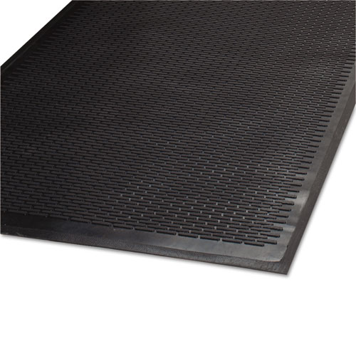 Clean Step Outdoor Rubber Scraper Mat, Polypropylene, 36 x 60, Black | by Plexsupply