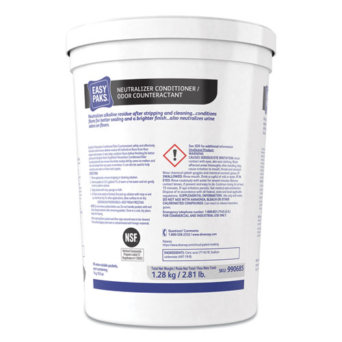 Neutralizer Conditioner/Odor Counteractant, .5oz Packet, 90/Tub, 2 Tubs/Carton