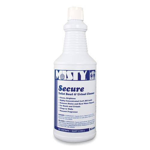 Secure Hydrochloric Acid Bowl Cleaner, Mint Scent, 32oz Bottle, 12/Carton