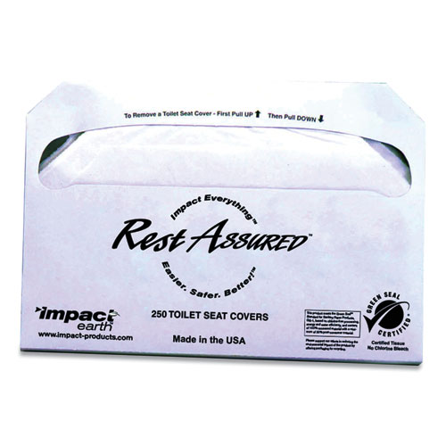 Impact® Rest Assured Impact Earth Seat Covers, 250/Pack, 20 Packs/Carton