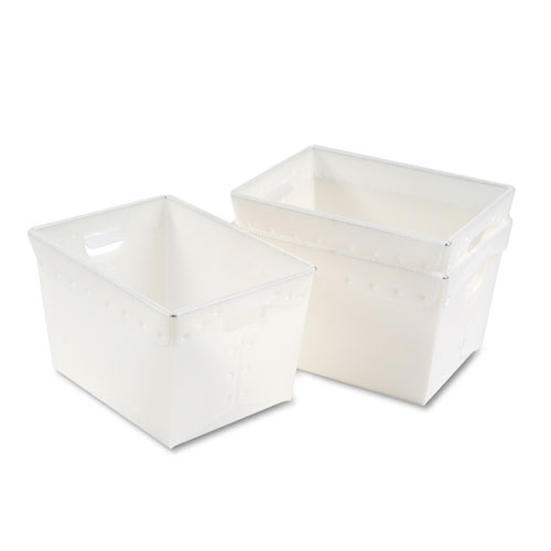 "Mail Totes, 13.25"" x 18.25"" x 11.5"", Translucent White, 3/Carton 