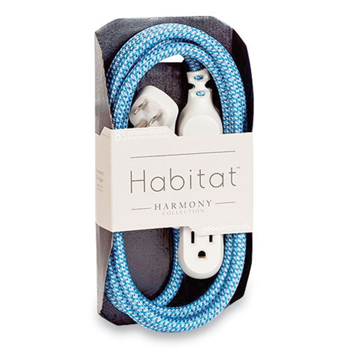 360 Electrical Habitat Accent Collection Braided AC Extension Cord, 8 ft, 13 A, Summer Twilight