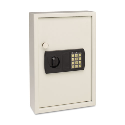 Electronic Key Safe, 48-Key, Steel, Sand, 11 3/4 x 4 x 17 3/8