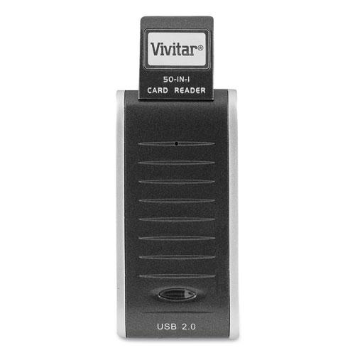 RW-50 50-in-1 Card Reader/Writer, USB 2.0, Mac OS/Microsoft