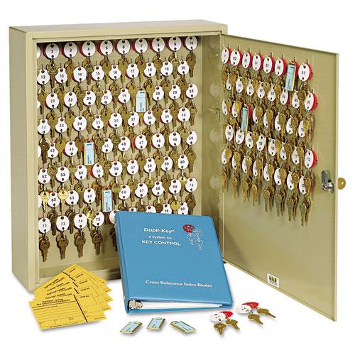 SteelMaster® Dupli-Key Two-Tag Cabinet, 60-Key, Welded Steel, Sand, 14 x 3 1/8 x 17 1/2