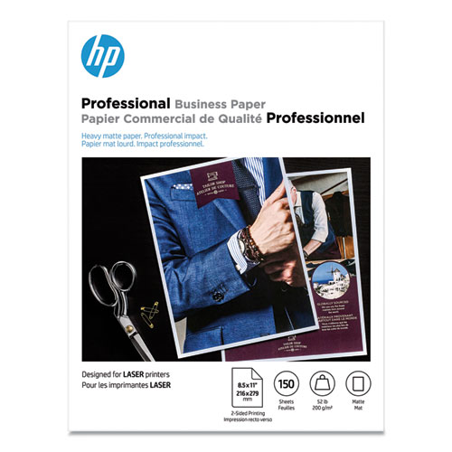 Professional Business Paper, 52 lb, 8.5 x 11, Matte White, 150/Pack