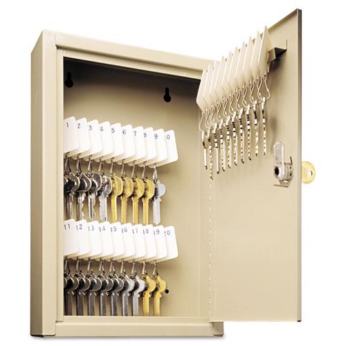 SteelMaster® Uni-Tag Key Cabinet, 30-Key, Steel, Sand, 8 x 2 5/8 x 12 1/8