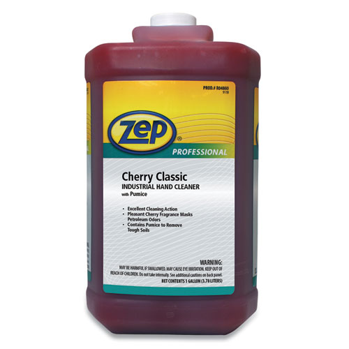 Cherry Industrial Hand Cleaner with Abrasive, Cherry, 1 gal Bottle, 4/Carton