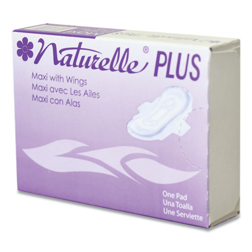 Naturelle Maxi Pads Plus, 4 with Wings, 250 Individually Wrapped/Carton