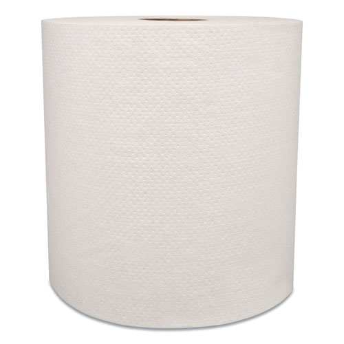 "Morcon Paper Hardwound Roll Towels, 8"" x 800 ft, White, 6 Rolls/Carton"