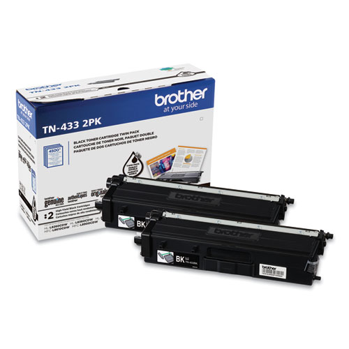 TN4332PK High-Yield Toner, 4,500 Page-Yield, Black, 2/Pack