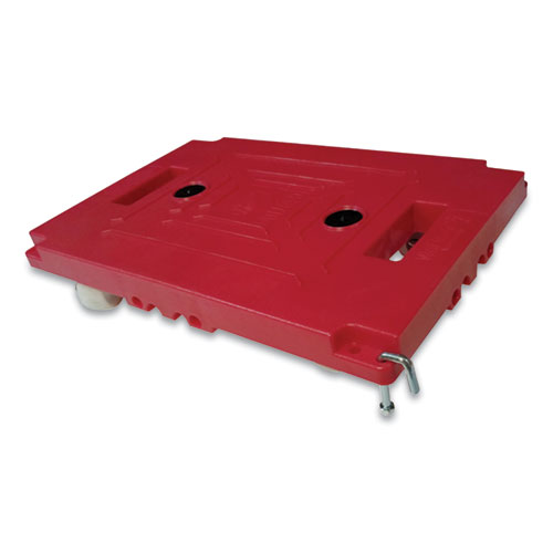 Mule Dollies, 500 lb Capacity, 17.75 x 12.75 x 3.375, Red, 2/Pack