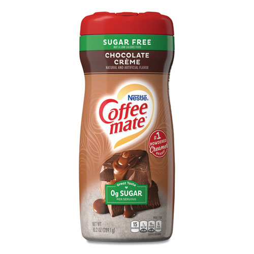 Sugar Free Chocolate Creme Powdered Creamer, 10.2 oz, 6/Carton