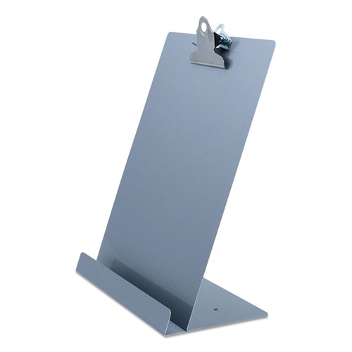 Free Standing Clipboard and Tablet Stand, 1 Clip Capacity, Holds 8.5 x 11, Silver