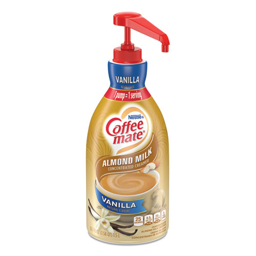 Liquid Coffee Creamer, Vanilla Almond Milk, 1.5 L Pump Bottle