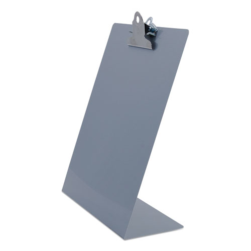 Free Standing Clipboard, Portrait, 1 Clip Capacity, 8.5 x 11 Sheets, Silver