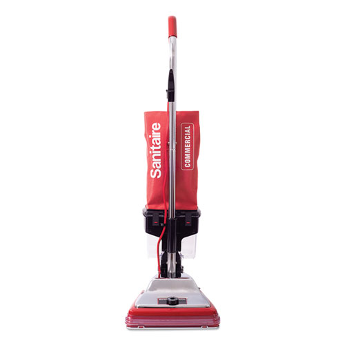TRADITION Upright Vacuum with Dust Cup, 7 Amp, 12 Path, Red/Steel