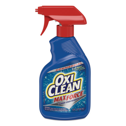 Max Force Stain Remover, 12oz Spray Bottle, 12/Carton