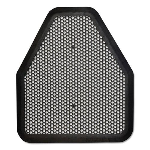 Urinal Mat, 20.75 x 18.5, Black, 6/Carton
