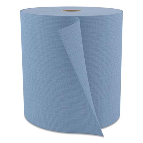 Tuff-Job Spunlace Towels, Blue, Jumbo Roll, 12 x 13, 475/Roll