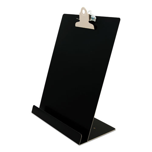 Free Standing Clipboard and Tablet Stand, 1 Clip Capacity, Holds 8.5 x 11, Black