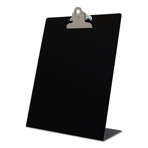 Free Standing Clipboard, Portrait, 1 Clip Capacity, 8.5 x 11 Sheets, Black