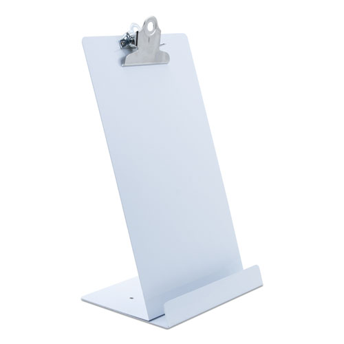 Free Standing Clipboard and Tablet Stand, 1 Clip Capacity, Holds 6.5 x 11, White