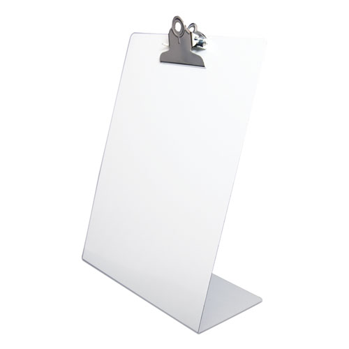 Free Standing Clipboard, Portrait, 1 Clip Capacity, 8.5 x 11 Sheets, White