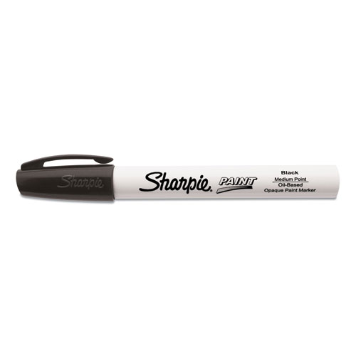 Permanent Paint Marker, Medium Bullet Tip, Black, Dozen