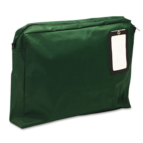 Expandable Dark Green Transit Sack, 18w x 14h x 4d | by Plexsupply