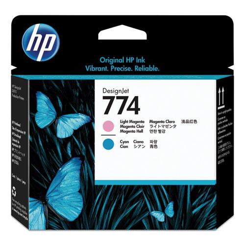 HP 774, (P2V98A) Cyan/Light Magenta Printhead