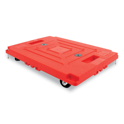 Mule Dollies, 500 lb Capacity, 13.75 x 19 x 5, Red, 2/Pack