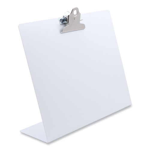 Free Standing Clipboard, Landscape, 1 Clip Capacity, 11 x 8.5 Sheets, White