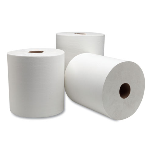 Advanced Hardwound Roll Towel, 7.88 x 1000 ft, White, 6 Rolls/Carton