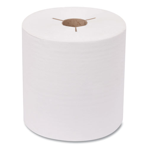 Advanced Hand Towel Roll, Notched, 8 x 800 ft, White, 6 Rolls/Carton